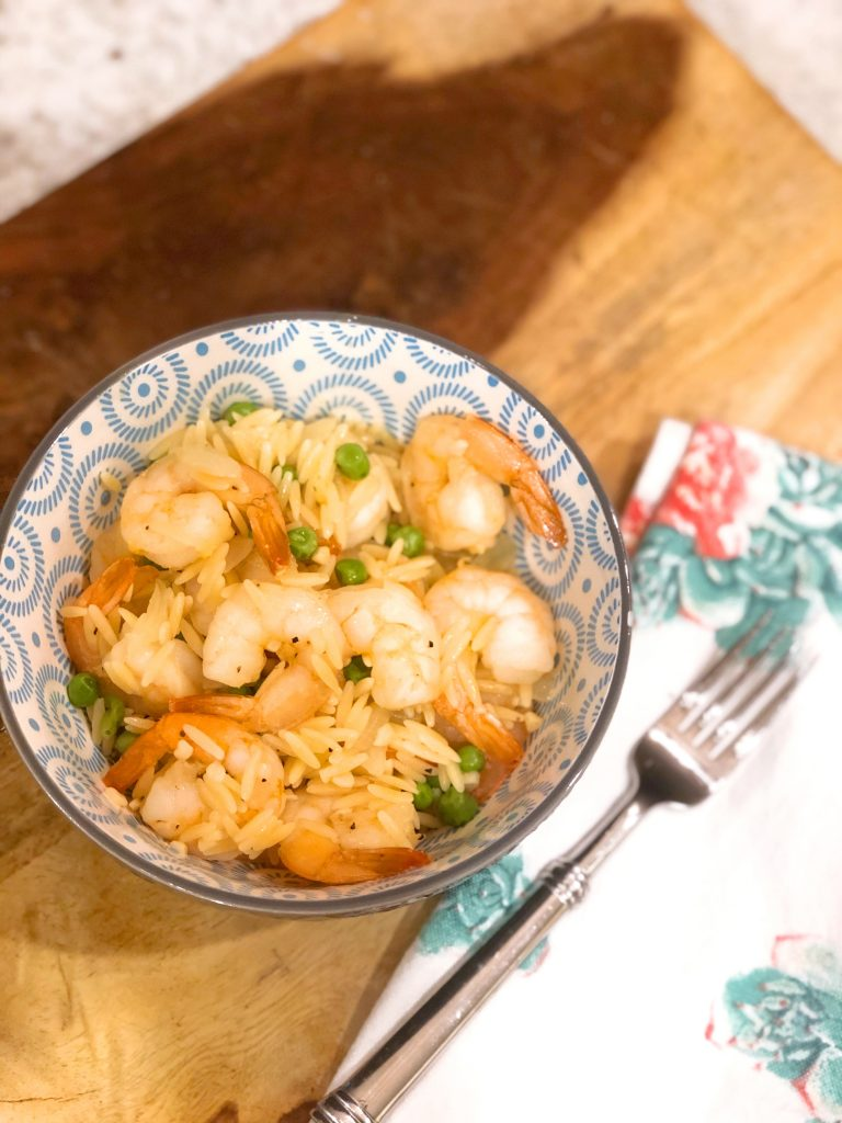 Shrimp and Orzo Paella
