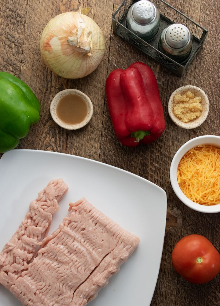 a picture of all the ingredients you need to make healthy chicken quesadillas