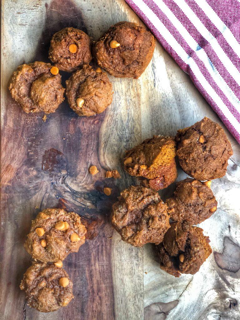 Butterscotch Pumpkin Protein Muffins