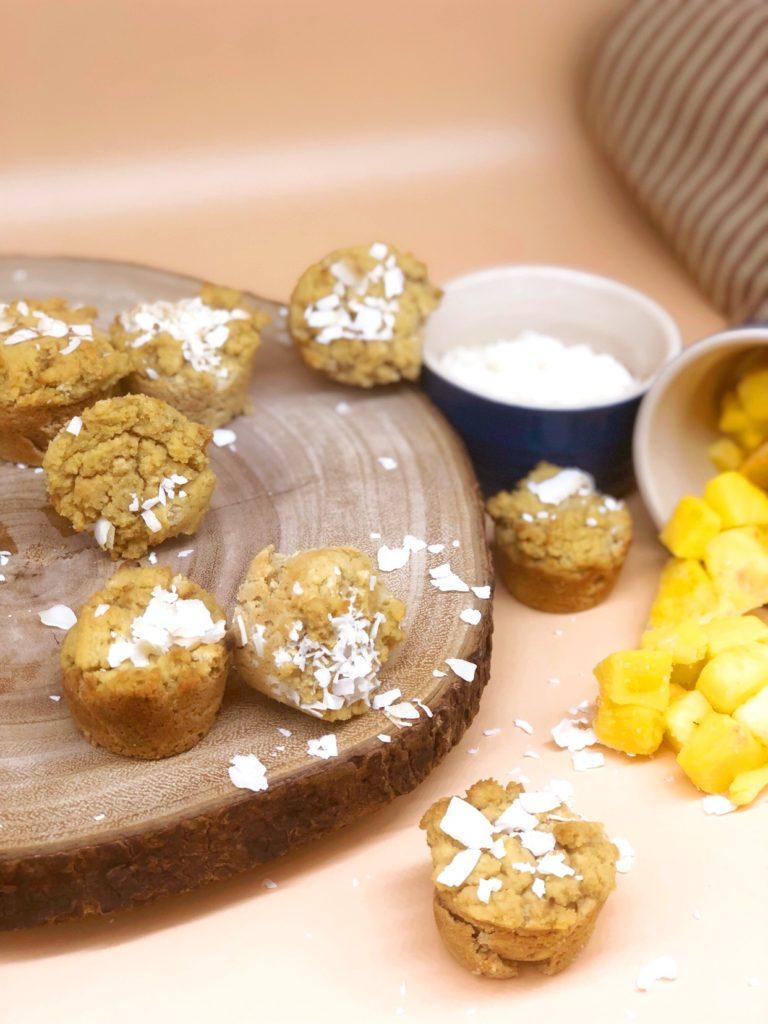 Coconut Mango Mini Muffins