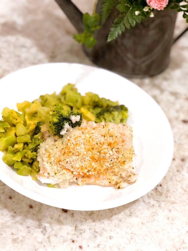Encrusted Baked Salmon