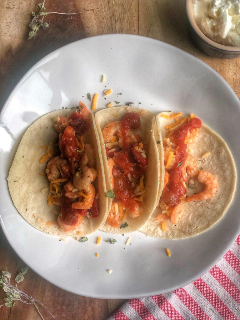 Garlicky Shrimp Tacos