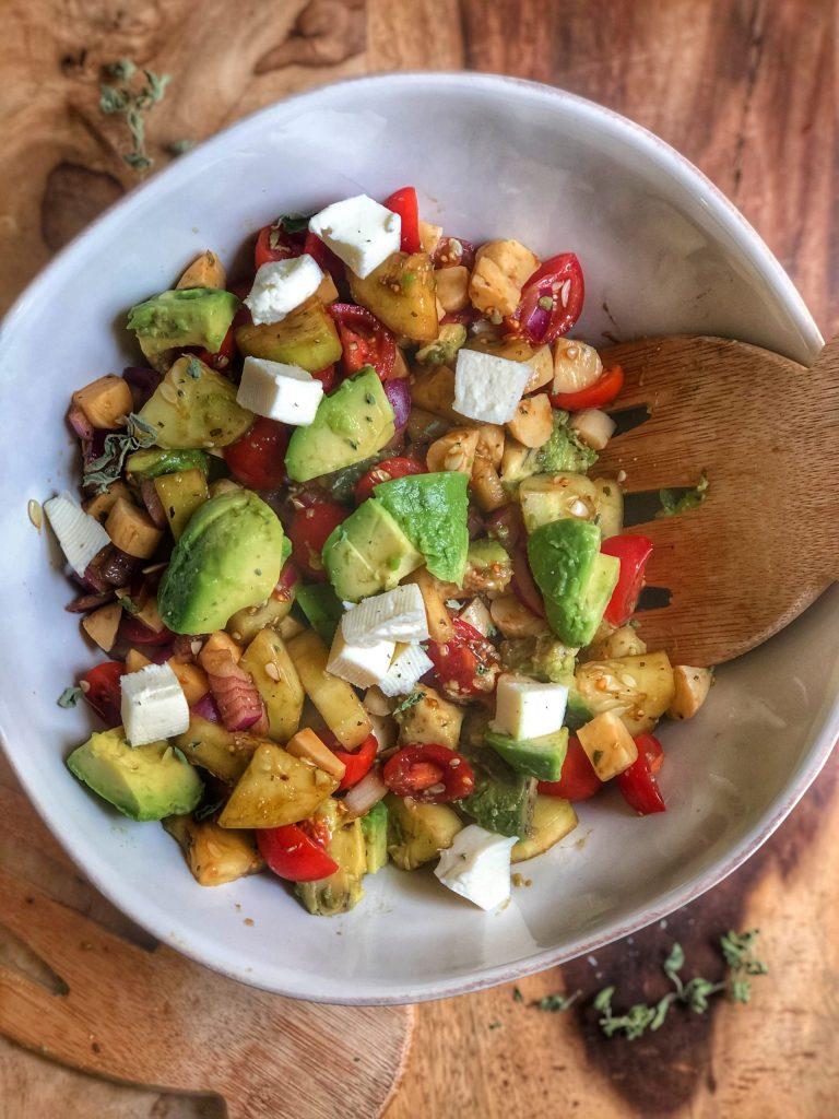 Avocado Tomato and Mozzarella Salad