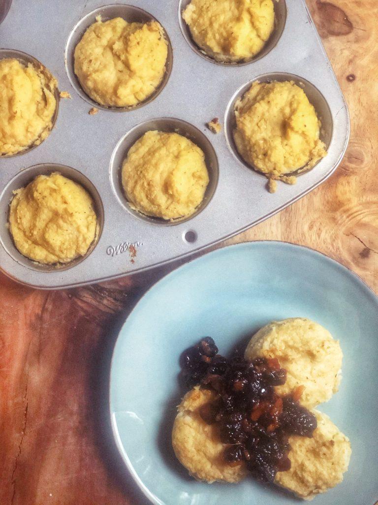 Baked Cauliflower Latke Muffins
