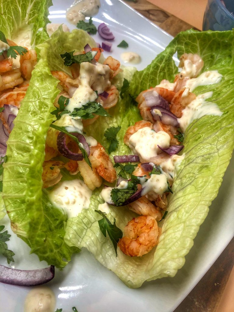 Honey Adobo Shrimp Tacos