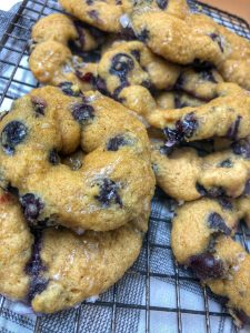 close up of healthy blueberry muffins
