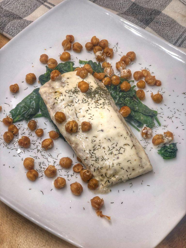 Roasted Mahi Mahi and Chickpeas
