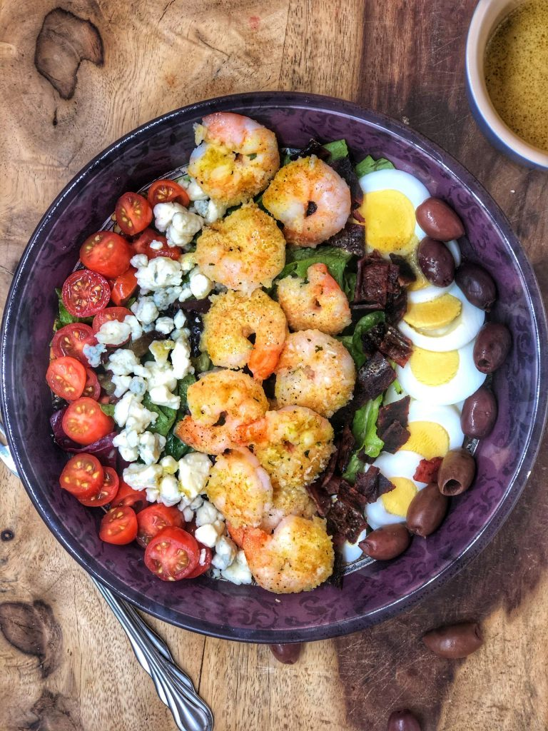 Baked Grandma's Shrimp Cobb Salad