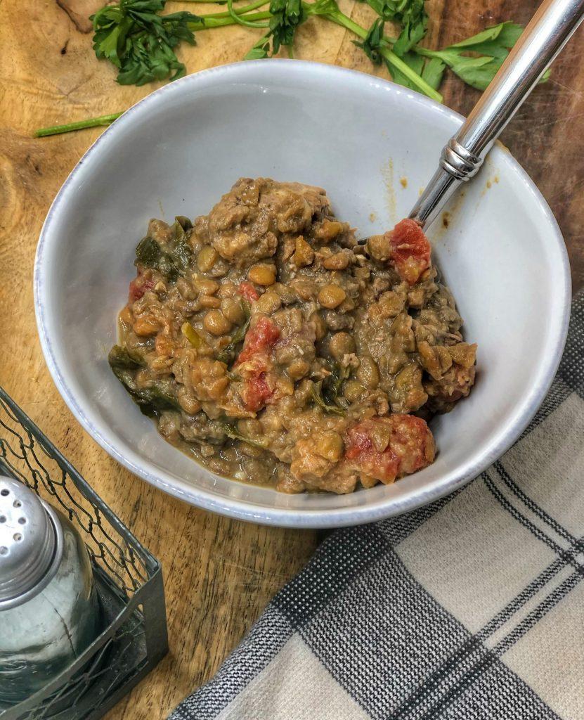 Slow Cooker Ground Turkey Lentil Soup